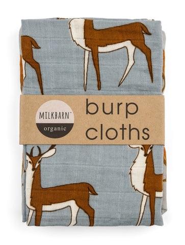 Milkbarn Bundle of Burp Cloths - assorted-styles, baby-shower-gifts, burp cloth, burp cloths, burpies, clothes, Fox, gifts-for-the-occasion, Goose, Milkbarn, new-arrivals-in-kids, newborn, organic-cotton, Polar Bear