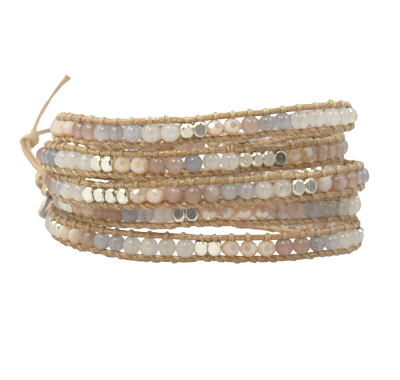 Fair Trade Marquet Miri Akha Wrap Bracelet - accessories, Akha, assorted-styles, bracelets, Bracelets & Cuffs, bracelets-bangles-cuffs, Clear, Cream, day, fair-trade, gift, gifts, gold, handmade, her, jewelry, Marquet, Miri, mothers, Pink, red, white, Wrap Bracelets