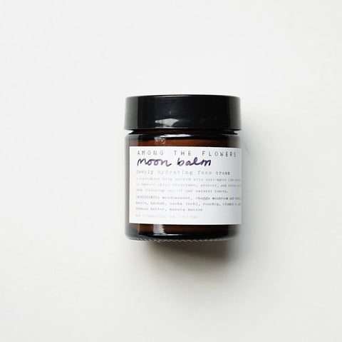 Among the Flowers Moon Balm, Organic Skin Cream, Organic Facial Products, Shop Small, Natural facial Serum, Wild Harvested