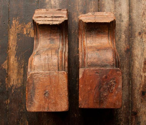 Antique Hand Carved Indian Corbels 03 - antique, architectural-details, bohemian-chic, Boho Chic, corbel, corbels, corbels-brackets, day, eco, gift, gifts, handmade, India, mothers, new-nectar-exclusives, one-of-a-kind, Teak, vintage, wood
