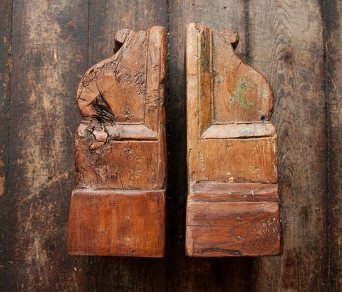 Antique Hand Carved Indian Corbels 17 - antique, architectural-details, bohemian-chic, Boho Chic, corbel, corbels, corbels-brackets, day, eco, gift, gifts, handmade, India, mothers, new-nectar-exclusives, one-of-a-kind, Teak, vintage, wood