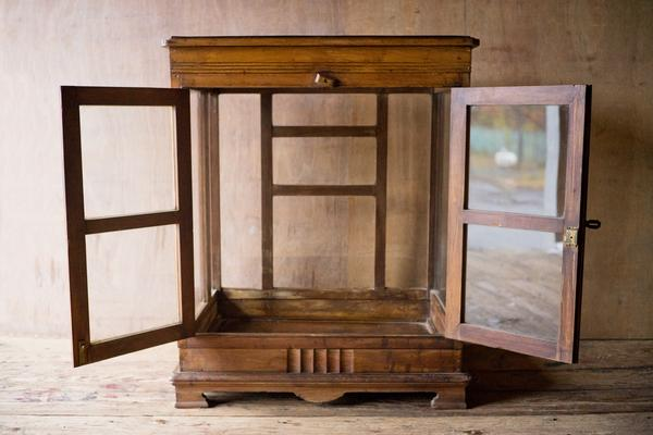 ... Antique Wood and Glass Display Cabinet - antique, antique brass, cabinet,  cabinets, ... - Antique Wood And Glass Display Cabinet SHOP NECTAR
