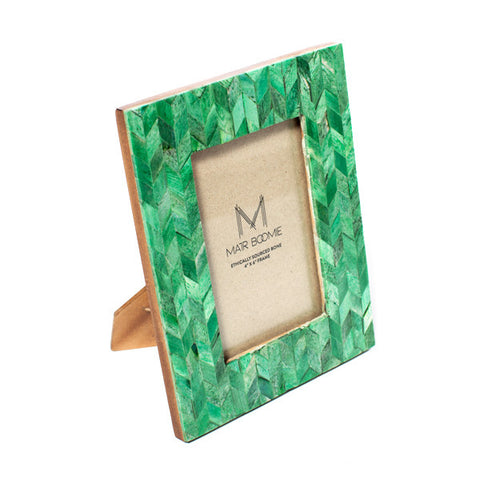 Fair Trade Emerald Artemis Photo Frame - accent-details, bone, decor, emerald, fair-trade, handmade, photo frame, picture frame, picture-frames-stands, Sustainable, wedding-decor