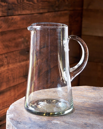 Fair Trade Recycled Glass Pitcher - Beer, Bitters Co, Blown Glass, fair-trade, glass, glassware, glassware-1, Hand Blown, kitchen-dining, Mexico, pitchers, recycled, Recycled Glass, serveware, tabletop-dinnerware, tabletop-dinnerware-1