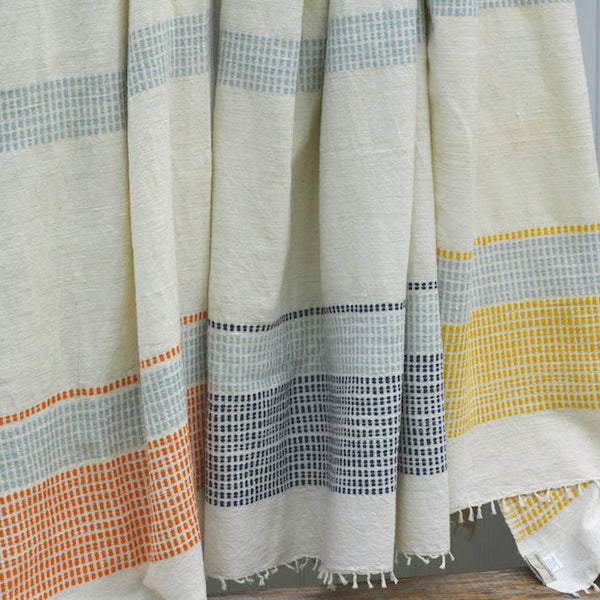 Fair Trade Striped Ethiopian Beach Blanket - Throw Blankets - Shop Nectar - 1