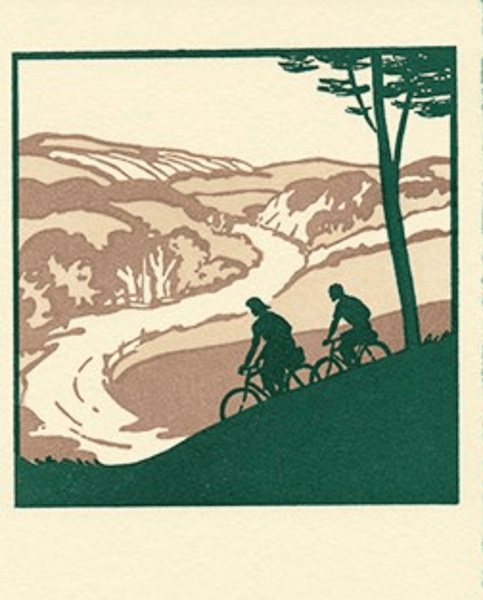 "Saturn Press ""Cycling"" Letterpress Card"
