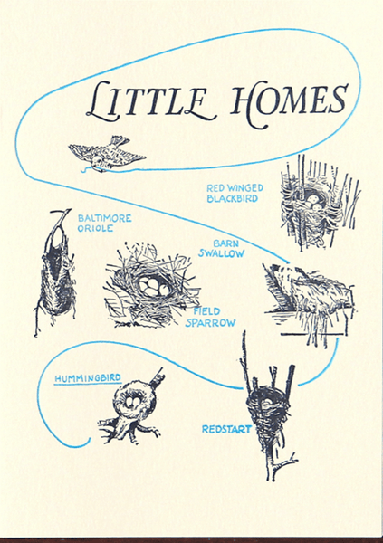 "Saturn Press ""Little Homes"" Letterpress Card"