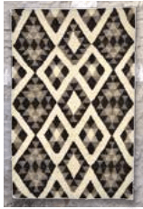 Diamond Patterned Black and White Handmade Fair Trade Guatemalan Rug by Meso - accent-details, assorted-styles, decor, fair-trade, Guatemala, Hand Woven, rugs-runners