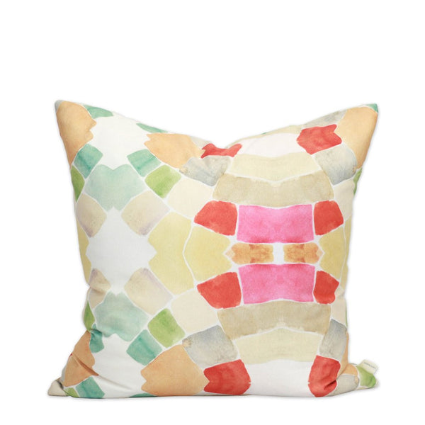 Mid Century Watercolor Pillow by bunglo