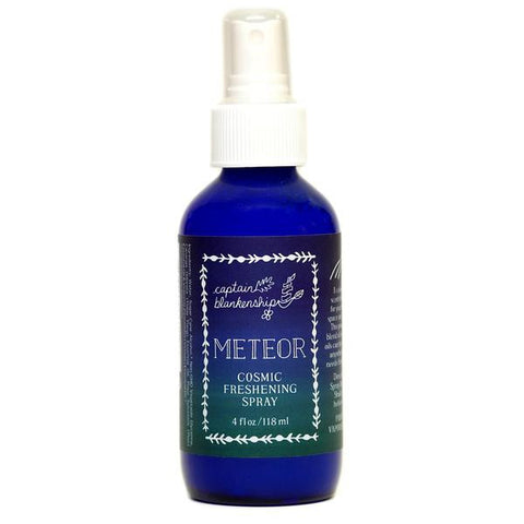 Captain Blankenship Meteor Cosmic Freshening Spray - american-made, bath, bath-beauty, beauty, body, body-mists, bodymist, Captain Blankenship, care, Cosmic, day, essential, fragrance, Gift, gifts, her, Hudson Valley, Meteor, mist, mists, mothers, new york made, oil, oils, organic, pine, scent, skin, skincare, Spray, Upstate NY, Vetiver, Ylang Ylang