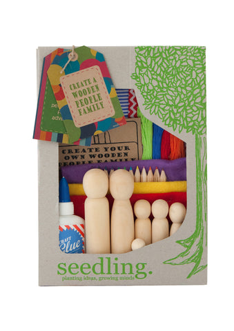Create a Wooden People Family Crafting Kit - Activity Kits - Shop Nectar - 2