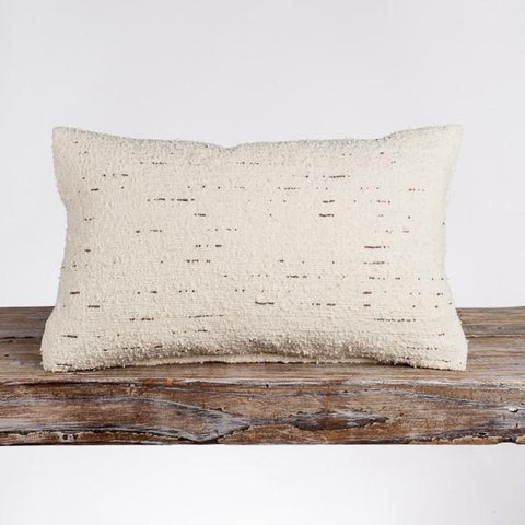 Creative Women Fair Trade Moroccan Couscous Lumbar Pillow - bedding-textiles, Creative Women, decor, decorative-pillows, fair-trade, pillows, pillows-throws, shabby-chic, supporting-women, white