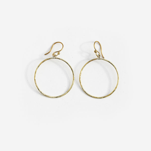 Meyelo Brass Circle Hoop Fair Trade Earrings - Hoops - Shop Nectar - 1
