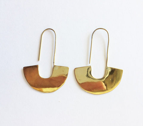 Meyelo Fair Trade Brass Adisa Earring - africa, african, brass, clean-water, drop-earrings, earring, earrings, Eco, eco-friendly, education, fair trade jewelry, fair-trade, handmade, jewelry, Kenya, supporting-women