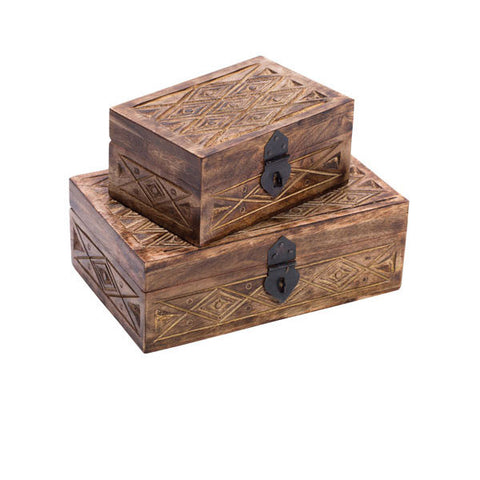 Fair Trade Indian Palace Treasure Box - assorted-styles, bathroom, Box, decor, decorative, decorative-boxes, fair-trade, Hand Carved, handmade, organizing-storage, storage, Sustainable, vanity-accessories, wedding-decor, wood
