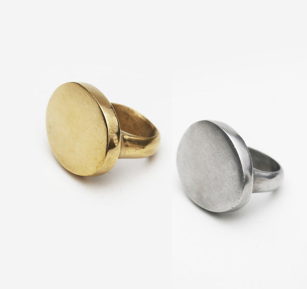 Meyelo Fair Trade Saka Oval Ring - accessories, aluminum, assorted-styles, brass, clean-water, day, Eco, eco-friendly, education, fair-trade, gift, gifts, Handcrafted, handmade, her, jewelry, Meyelo, mothers, recycled, rings, supporting-women