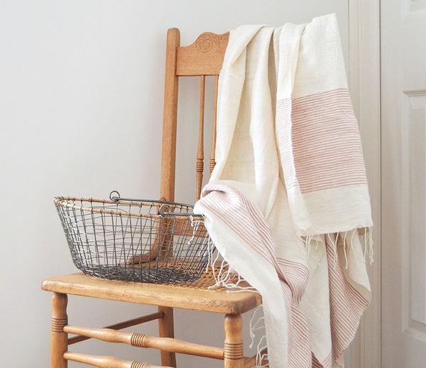 Fair Trade Ribbed Riviera Turkish Hand & Bath Towels