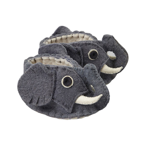 Fair Trade Felted Elephant Baby Booties - baby, Baby Booties, booties, children, children's, clothing-shoes-accessories, Eco, eco friendly, fair-trade, felt, Felted, handmade, new baby, slipper, social-responsibility, supporting-women, wool