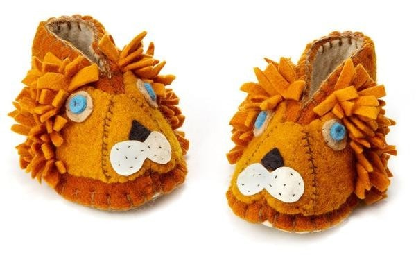 fair Trade Felted lion Baby Booties - Kids Slippers - Shop Nectar - 5
