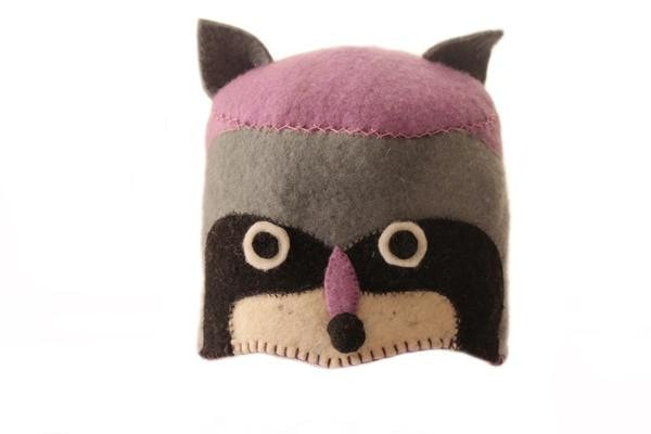 Fair Trade Felted Racoon Baby Hat - baby, baby hat, baby hats, children, children's, clothing-shoes-accessories, Eco, eco friendly, fair-trade, felt, Felted, handmade, hat, infant hat, New Baby, social-responsibility, supporting-women, wool
