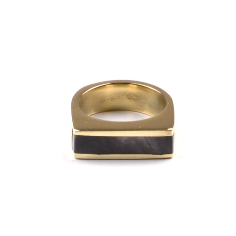 Fair Trade Soko Brass Horn Line Ring - accessories, assorted-styles, day, Eco, fair-trade, gift, gifts, her, jewelry, mothers, ring, rings