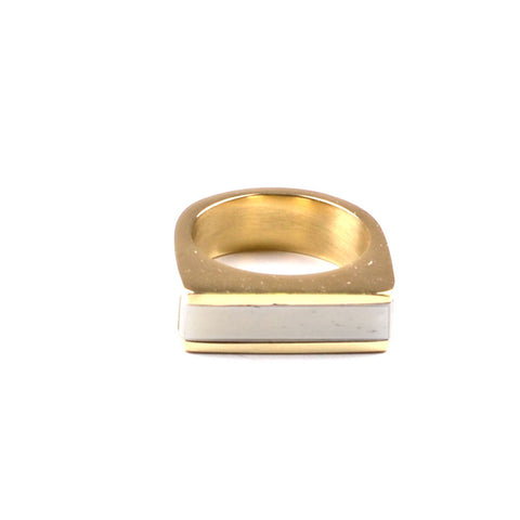 Fair Trade Soko Brass Horn Line Ring - Rings - Shop Nectar - 4