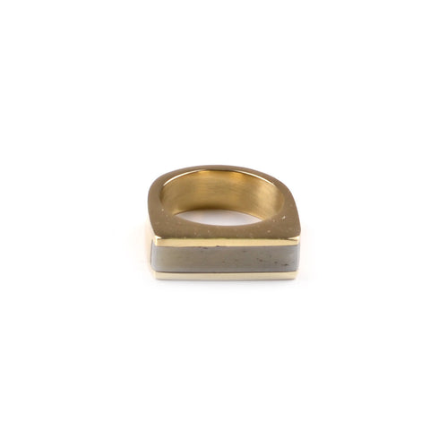 Fair Trade Soko Brass Horn Line Ring - Rings - Shop Nectar - 5