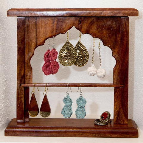 Fair Trade Taj Mahal Jewelry Holder - accessories, accessory, bath-beauty, bathroom, day, fair-trade, gift, gifts, handmade, her, Indian Rosewood, jewelry, jewelry-stands, jewelry-stands-boxes, mothers, storage-vanity, Sustainable, vanity-accessories, wood