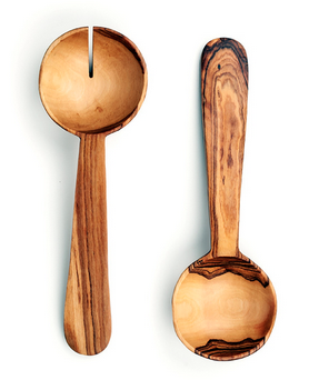 Fair Trade Pendulum Olive Wood Servers - Serving Utensils - Shop Nectar - 1