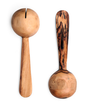 Fair Trade Pendulum Olive Wood Servers - africa, African, antler, assorted-styles, carved, eco, fair-trade, flatware-utensils, Hand Carved, handmade, kitchen-dining, serveware, serving spoon, serving spoons, serving-utensils, sustainably, sustainably harvested, tabletop-dinnerware-1, wooden