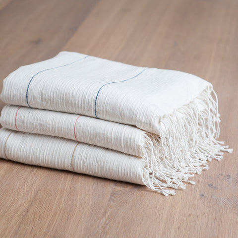 Fair Trade Fine Line Turkish Bath Towels - Bath Towels - Shop Nectar - 1
