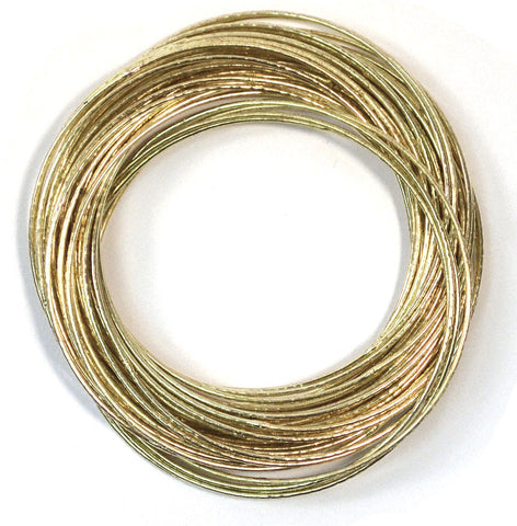 Fair Trade Ripple Bangles - accessories, assorted-styles, bracelets, bracelets-bangles-cuffs, day, fair-trade, gift, gifts, gold, her, jewelry, mothers, silver