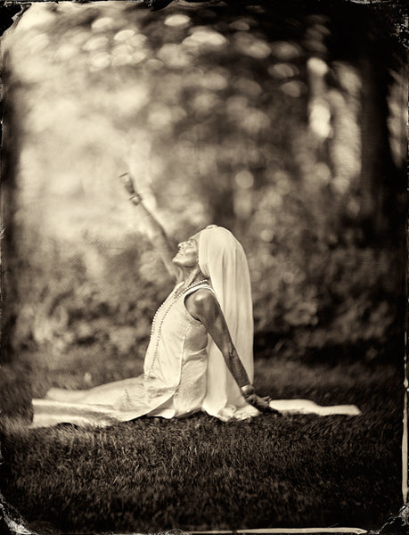 Yoga: Gurmukh Kaur Khalsa Photographed By Francesco Mastalia - 19th century photograph, alternative therapy, art, artwork, assorted-styles, breathe work, breathing, collodion process, decor, Framed, Francesco Mastalia, Gurmukh Kaur Khalsa, happiness, health, Hudson, Hudson Valley, Kundalini Yoga, laya yoga, Liberation Kriya, local, meditation, nature, New York, NY, organic, peaceful, photo frame, Photograph, photographs, photography, portrait, portraits, Print, Unframed, yoga, yoga instructor