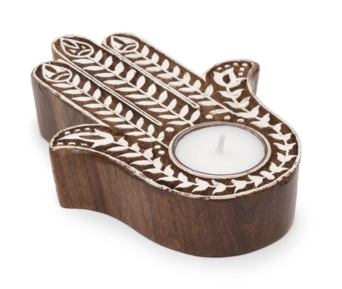 Fair Trade Aashiyana Tealight Holders - accent-details, accessories, assorted-styles, Boho Chic, candles-diffusers-incense, candlestick-holders, decor, Eco, fair-trade, Gift, gifts, handmade, holiday-decor, kitchen-dining, Sustainable, tabletop-dinnerware-1, tea lights, wedding-decor, white, wood
