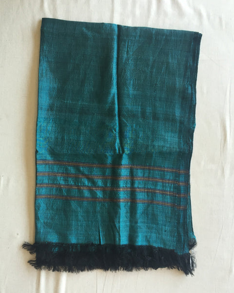 Hand Woven Green Afghan Silk Scarf - afghan, green, hats-scarves-gloves, scarf, scarves, scarves-shawls, scarves-shawls-sarongs, silk, silk scarf, silk scarves, womens-clothing