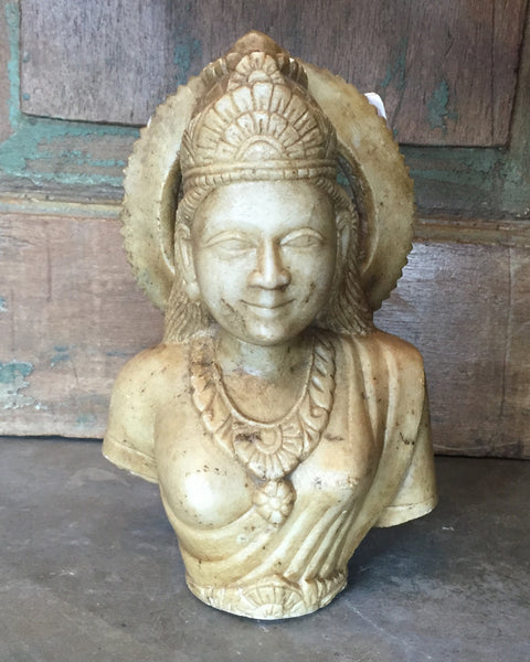 Hand Carved Sita Marble Murti Bust Sculpture