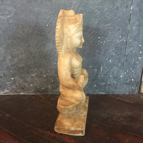 Hand Carved Marble Lakshmi Murti - bird-baths-statuary, decor, garden-outdoor, Hand Carved, marble, statuaries-and-shrines, statuary, statue