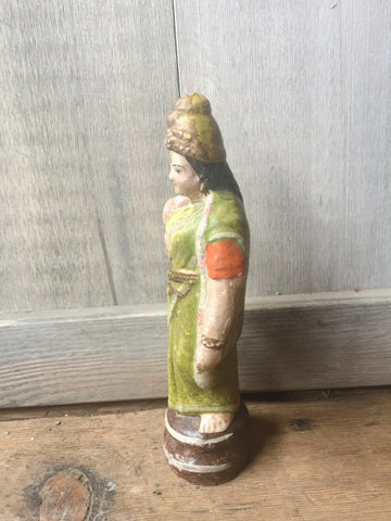 Hand Made Lakshmi Figurine - Painted Terra Cotta Statue - Shop Nectar