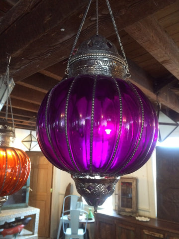 Colored Glass Gourd Shaped Lanterns