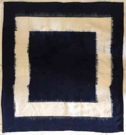 Hand Woven Grey and Indigo Ikat Napkins