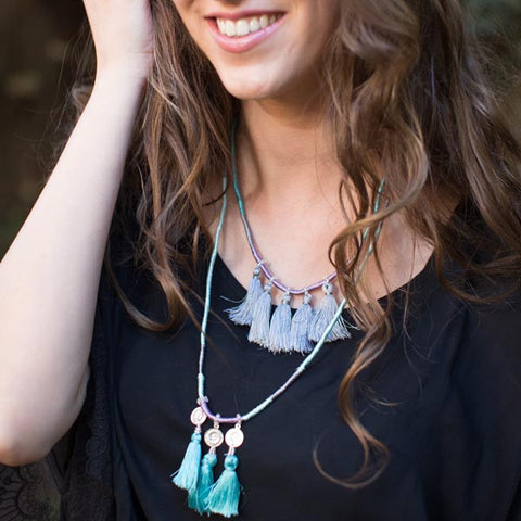 Fair Trade Indian Deco Tassel Summer Breeze Necklace - Necklaces - Shop Nectar - 3