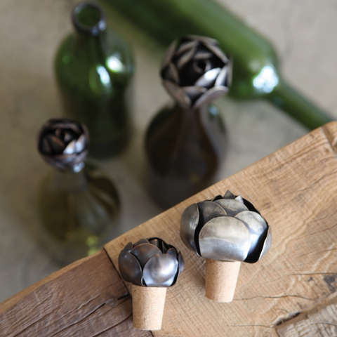 Iron Rose Bottle Stopper - Wine Stoppers - Shop Nectar - 3