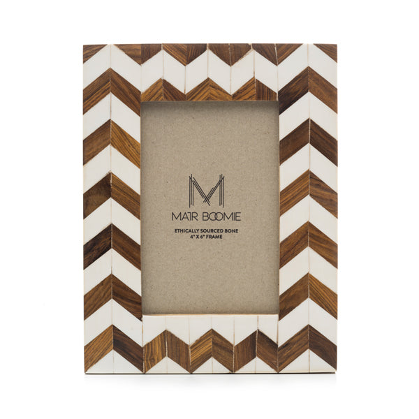 Fair Trade Ethically Sourced Bone Inlay Chevron Frame