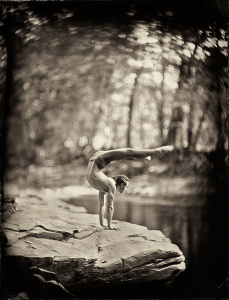 Yoga: Jared McCann Photographed By Francesco Mastalia - 19th century photograph, alternative therapy, art, artwork, assorted-styles, breathe work, breathing, collodion process, decor, Framed, Francesco Mastalia, Hudson, Hudson Valley, Jared McCann, local, meditation, nature, New York, NY, organic, peaceful, photo frame, Photograph, photographs, photography, portrait, portraits, Print, Unframed, yoga, yoga instructor
