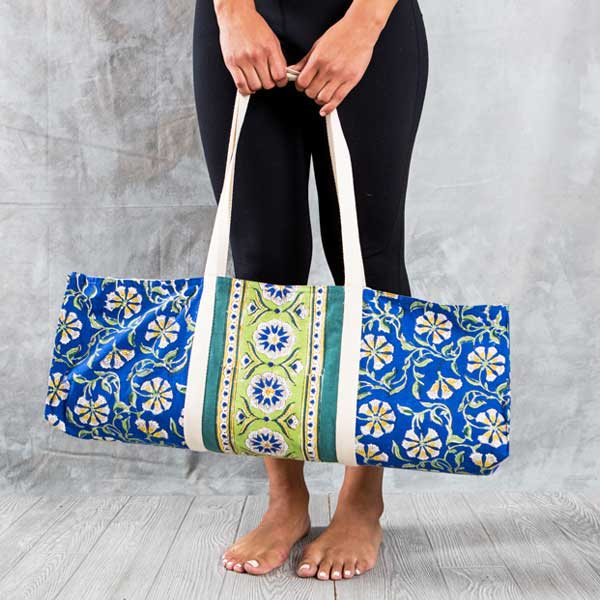 Fair Trade Kalini Yoga Bags - accessories, Ashtanga yoga, bags-purses, block print, Block Printed, Blockprint, bohemian-chic, Boho Chic, Compostable, day, earth friendly, Eco, eco friendly, fair-trade, fitness gear, funds community development, Gift, gifts, gifts-for-her, gifts-for-the-bridesmaids, Handcrafted, handmade, Kundalini Yoga, laya yoga, mothers, new-arrivals-in-gifts-indulgences, Sustainable, work out gear, workout accessories, yoga, yoga accessories, yoga bag