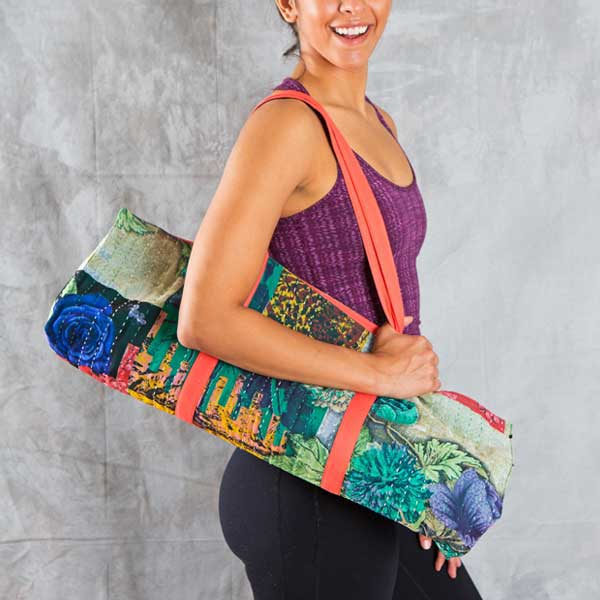Fair Trade Kantha Sari Yoga Bag ~ Assorted - accessories, Ashtanga yoga, assorted-styles, bags-purses, block print, Block Printed, Blockprint, bohemian-chic, Boho Chic, Compostable, day, earth friendly, Eco, eco friendly, fair-trade, fitness gear, funds community development, Gift, gifts, gifts-for-her, gifts-for-the-bridesmaids, Handcrafted, handmade, Kundalini Yoga, laya yoga, mothers, new-arrivals-in-gifts-indulgences, Sustainable, work out gear, workout accessories, yoga, yoga accessories