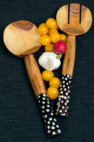 fair trade unique gifts affordable gifts gifts under $25 eco sustainable handmade salad servers from Kenya, Africa