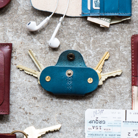 Fair Trade Leather Key Holder - Compostable, cruelty free, Eco, eco-friendly, ethically sourced, fair-trade, fairtrade, funds community development, gifts-for-him, Handcrafted, handmade, key accessories, key holder, key holders, key ring, key rings, leather, leather gifts, Leather Key Holder, new-arrivals-in-gifts-indulgences, Sustainable, sustainable leather