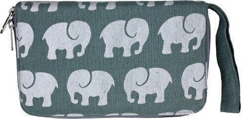 Malia Designs Fair Trade Elephant Travel Wallet
