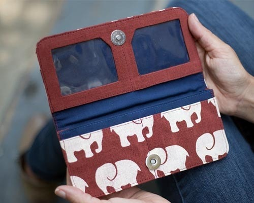 Malia Designs Fair Trade Elephant Wallet